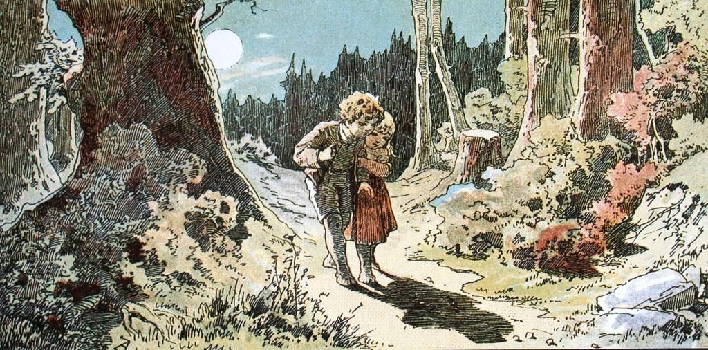 """""""Hänsel e Gretel"""" - """"Гензель и Гретель"""", немецкая сказка на итальянском языке"""