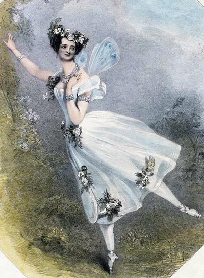 ... балете «Флора и Зефир». Литография, 1831: www.belcanto.ru/taglioni.html