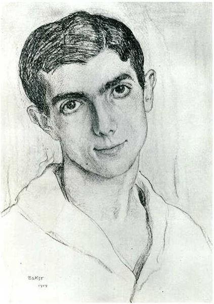 Леонид Мясин, рисунок Льва Бакста, 1914