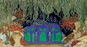 И.Я. Билибин. Подводное царство. Эскиз декорации к шестой картине оперы Н.А. Римского-Корсакова «Садко». 1914 г.