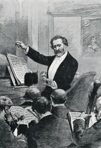 Джузеппе Верди дирижирует премьерой «Аиды» в Париже, 1880 год