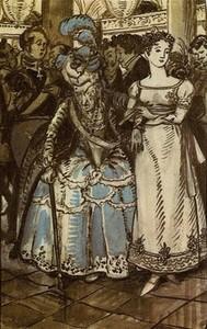 А. Н. Бенуа. Иллюстрация к «Пиковой Даме»