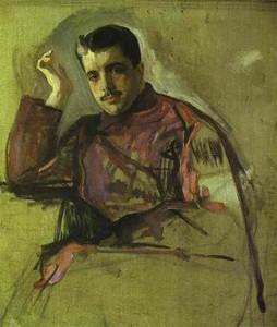 Портрет Сергея Дягилева кисти Валентина Серова (1904)