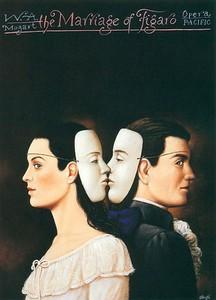 Опера Вольфганга Амадея Моцарта «Свадьба Фигаро». Постер Рафала Ольбиньского