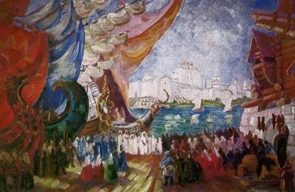 Ф. Ф. Федоровский. «Садко». Опера Н. Римского-Корсакова. 1935 год