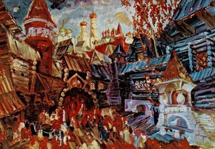 «Хованщина». 1950 год. Эскиз декорации Ф. Ф. Федоровского