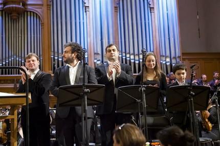 Ованес Айвазян (тенор), Арсен Согомонян (баритон),Мария Векилова (орган), Валера Козловский (дискант)