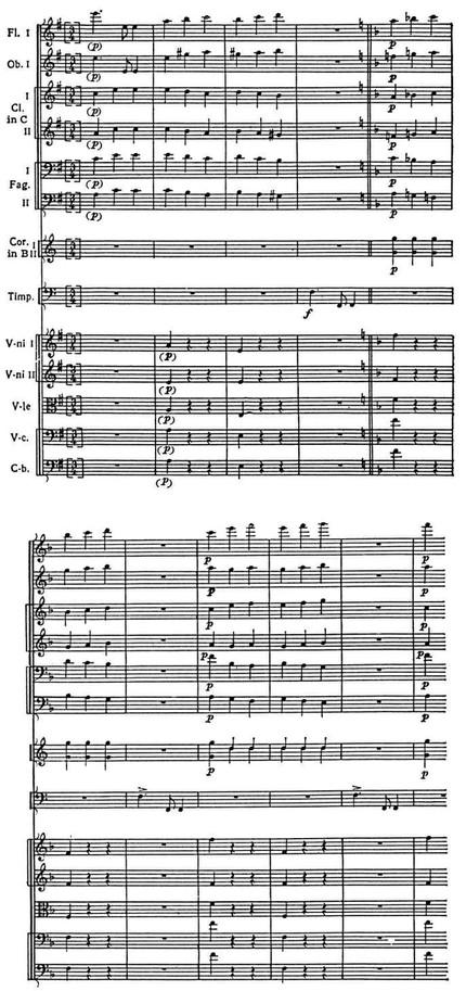 Их соединяет связующий переход на доминанте к тональности финала до мажор, в которой и заканчивается вся симфония