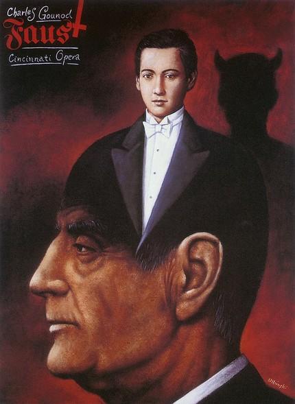 Опера Шарля Гуно «Фауст». Постер Рафала Ольбиньского